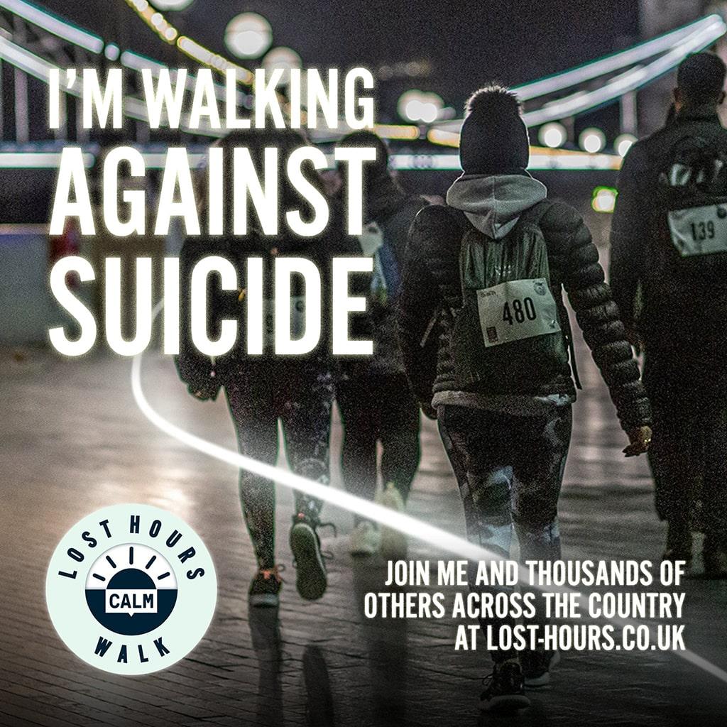 I'm walking against suicide