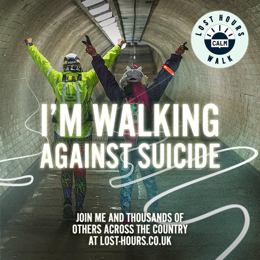 I'm walking against suicide version 2