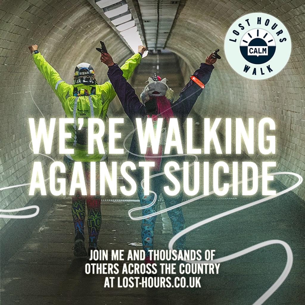 We're walking against suicide